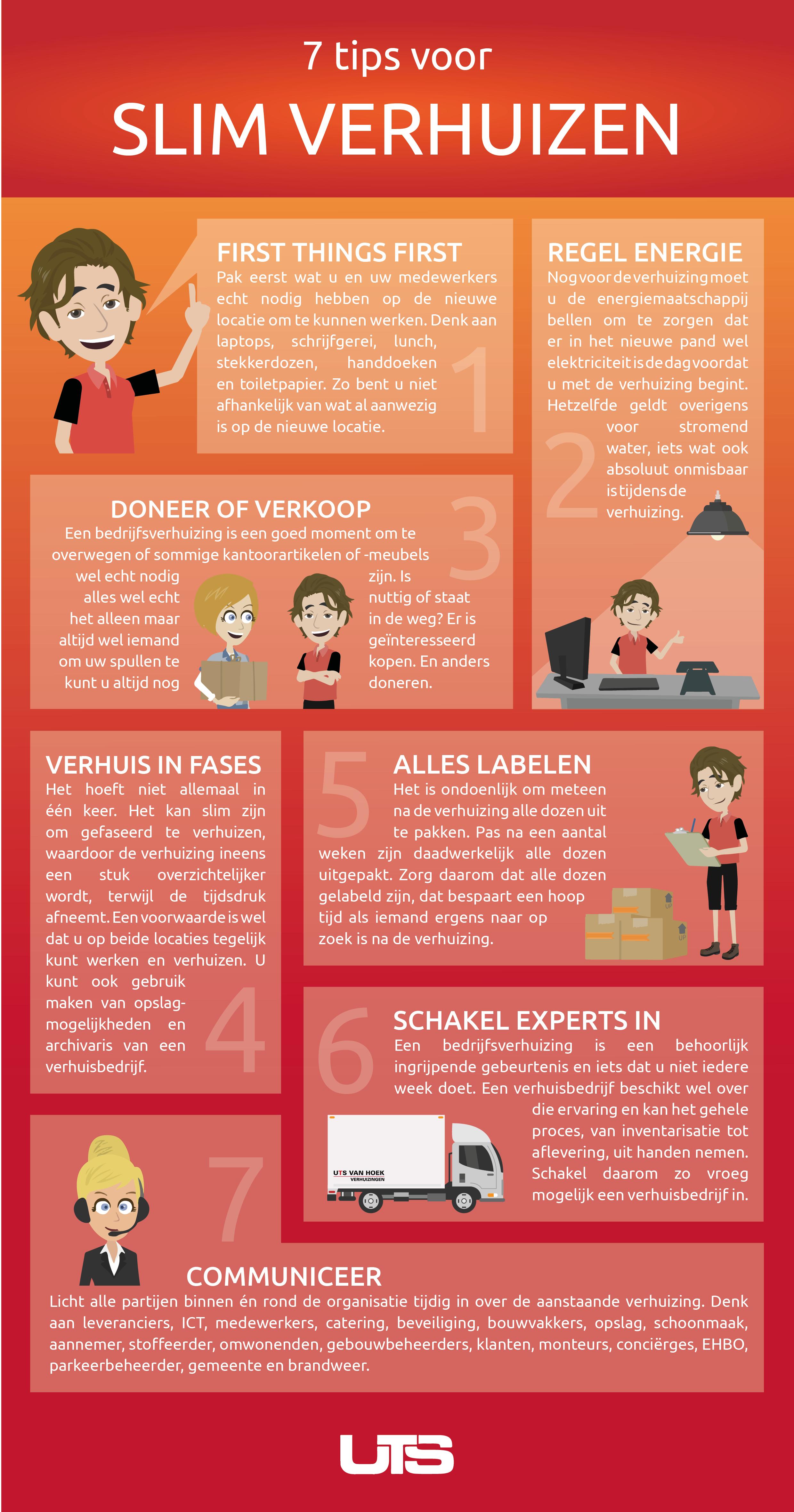 slim verhuizen infographic tips verhuisbedrijf uts van hoek groningen