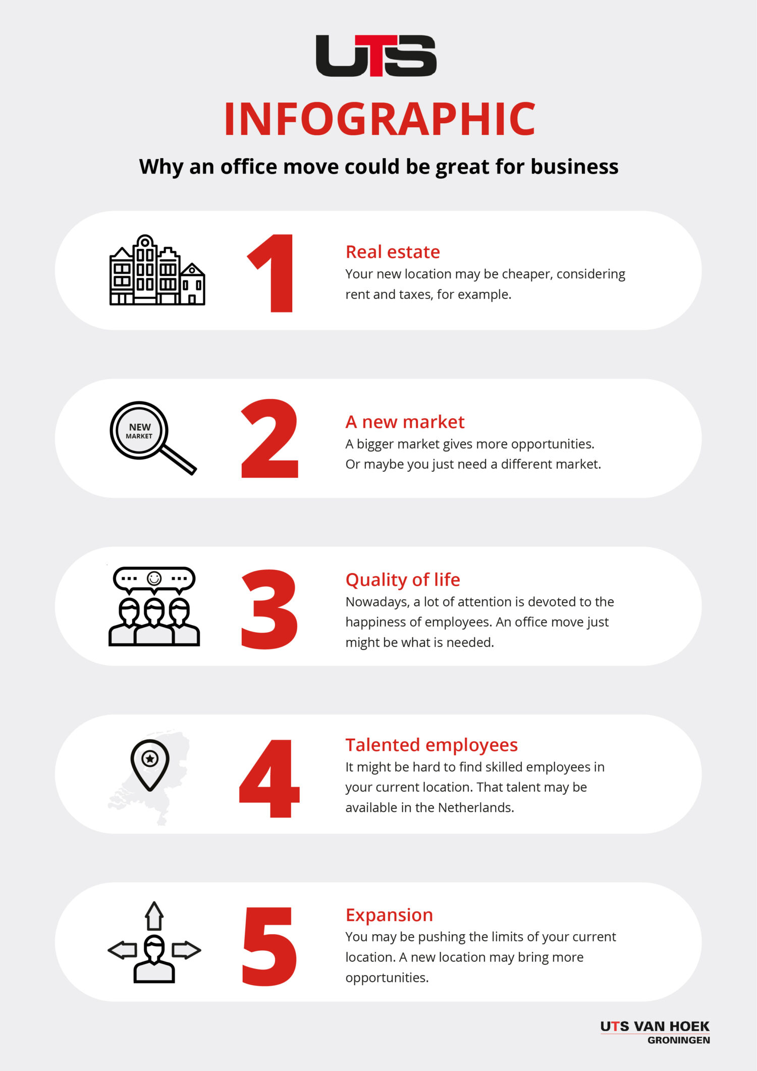 why an office move can be great for business infographic uts van hoek moving company netherlands groningen